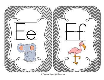 Chalkboard Chevron Alphabet Cards