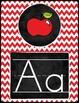 Chalkboard Chevron Alphabet