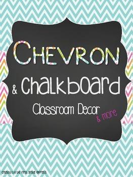 Chalkboard Chevron Classroom Decor