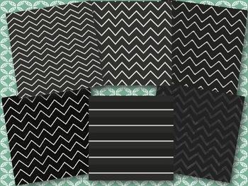 Chalkboard Chevron Papers