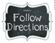 Chalkboard & Chevron {Picture Direction Cards}