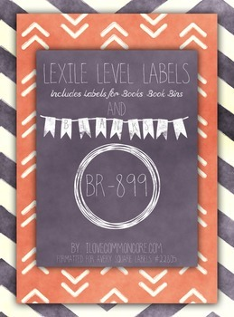 Chalkboard Chevron Pink Lexile Level Labels for Books and Book Bins, Avery 22805