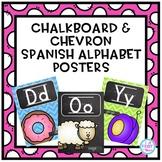 Chalkboard & Chevron Spanish Alphabet Posters