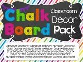 Chalkboard Chevron Theme Classroom Decoration Pack
