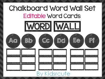 Word Wall Editable