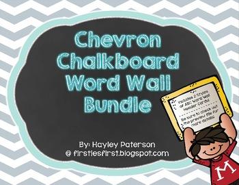 Chalkboard Chevron Word Wall Bundle