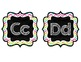 Chalkboard Chevron Word Wall Headers