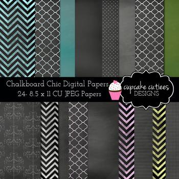 Chalkboard Chic Digital Paper Set