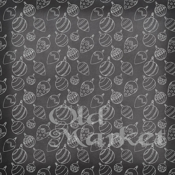 Chalkboard Christmas Digital Paper Pack - 16 Different Papers - 12inx12in