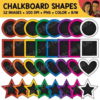 Chalkboard Shapes Clipart