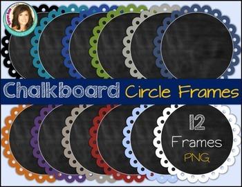 Chalkboard Circle Frames