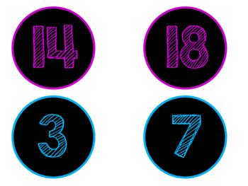 Chalkboard Circle Numbers