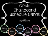 Chalkboard Circle Schedule and Subject Cards