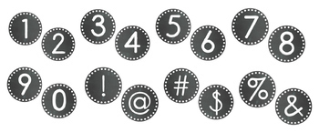 Chalkboard Alphabet Circle Set: Includes Letters, Numbers, & Symbols (70+ Pages)