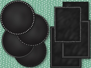 Chalkboard Circles and Frames