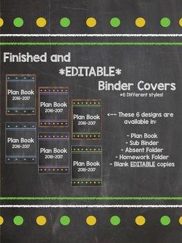 Chalkboard Theme Classroom (2 sets in 1) *EDITABLE*