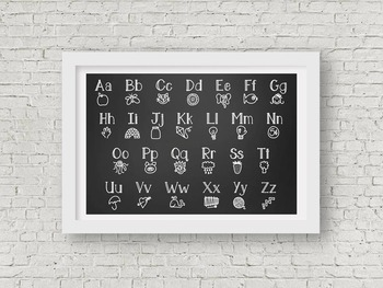 Chalkboard Classroom Alphabet ABC Large Poster - Printable up to 3' x 2'