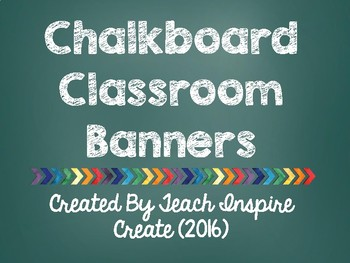 Chalkboard Classroom Banners - All Subjects