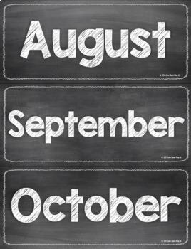 Chalkboard Classroom Calendar Set