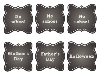 Editable Chalkboard Classroom Calendar and Signs Super Pack