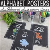 Chalkboard Classroom Decor - Alphabet Posters