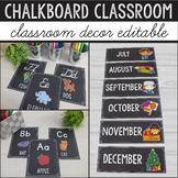 Chalkboard Classroom Decor Bundle, Editable Chalkboard Lab