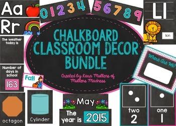 Chalkboard Classroom Decor Bundle {+Freebie!}
