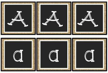Chalkboard Classroom Decor - Decorative Lettering and Calendar Pieces