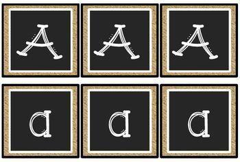 Chalkboard Classroom Decor - Decorative Lettering and Calendar Pieces