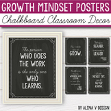 Chalkboard Classroom Decor - Growth Mindset Posters - Editable