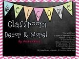Editable Chalkboard Classroom Decor and More! Bright Herri