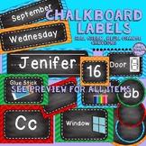 Chalkboard Classroom Decor - days, months, supplies ...bri