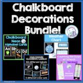 Chalkboard Classroom Decorations Bundle