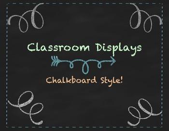 Chalkboard Classroom Displays