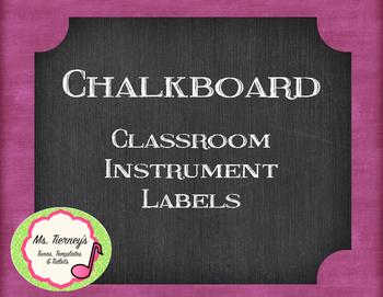 Chalkboard Classroom Instrument Labels