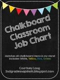 EDITABLE Chalkboard Classroom Job Chart