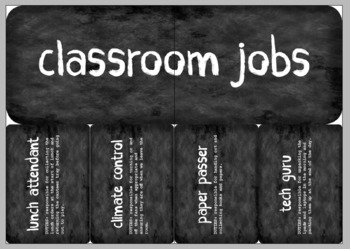 Chalkboard Classroom Jobs with Description