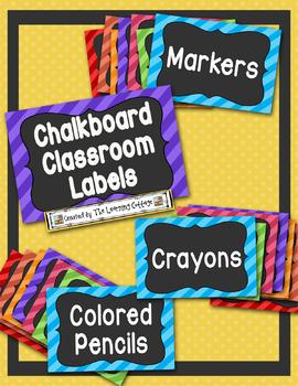 Chalkboard Classroom Labels-Editable
