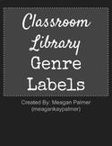 Chalkboard Classroom Library Genre Labels