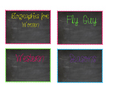 Chalkboard Classroom Library Labels