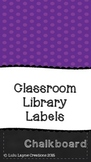 Chalkboard Classroom Library Labels EDITABLE