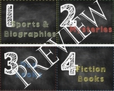Chalkboard Classroom Library Labels- includes editable!!