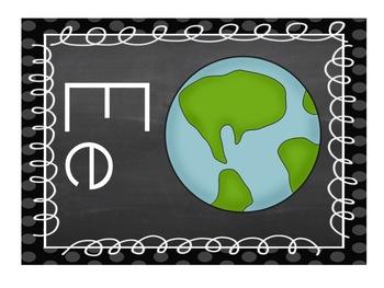 Chalkboard Classroom Posters