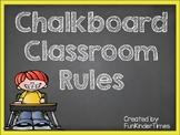 Chalkboard Classroom Rules
