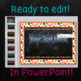 Chalkboard Classroom Rules Editable
