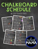 Chalkboard Classroom Schedule