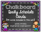 Chalkboard Classroom Schedule Cards