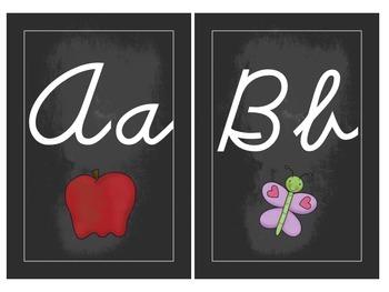Chalkboard Classroom Set {d'nealian cursive}