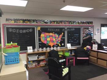Chalkboard Classroom Subject Banners