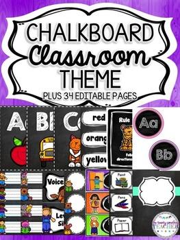 Chalkboard Classroom Theme